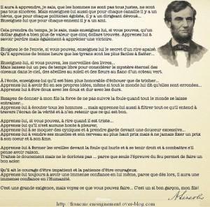 Lettre d'Abraham Lincoln