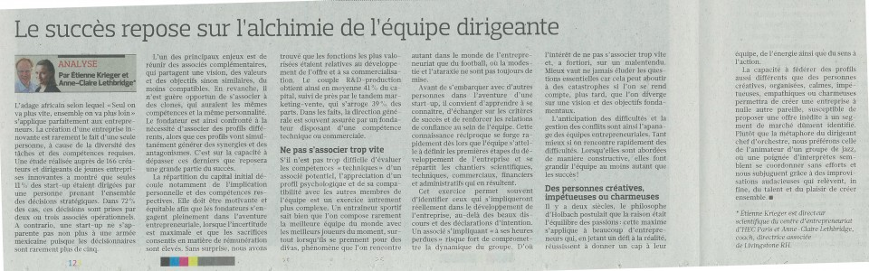 article le figaro - avril 2016